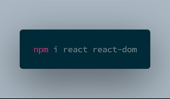 react install