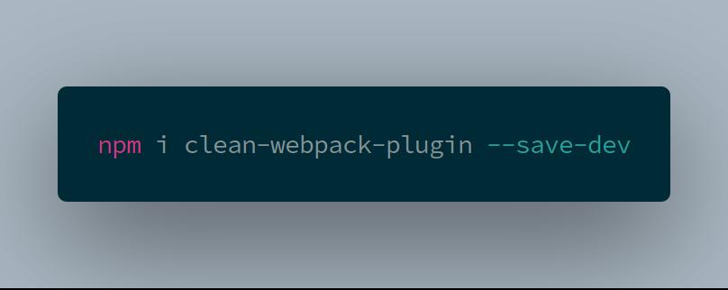 install clean-webpack-plugin
