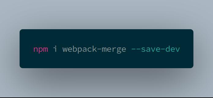 install webpack-merge
